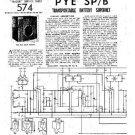 PYE SP_B Vintage Service Information  by download #90993