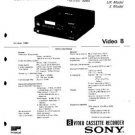 SONY EVC8E Service Manual by download #91075