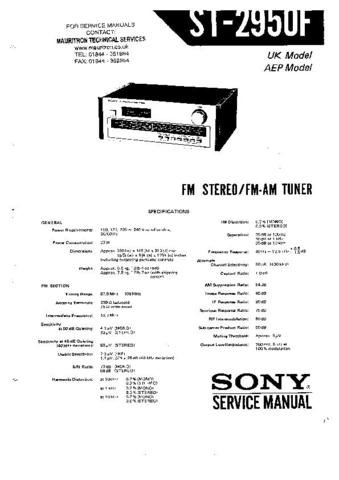 SONY ST2950F Service Manual by download #91113