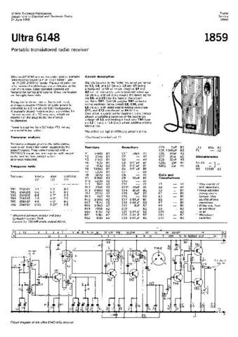 ULTRA 6148 Equipment Service Information by download #91150
