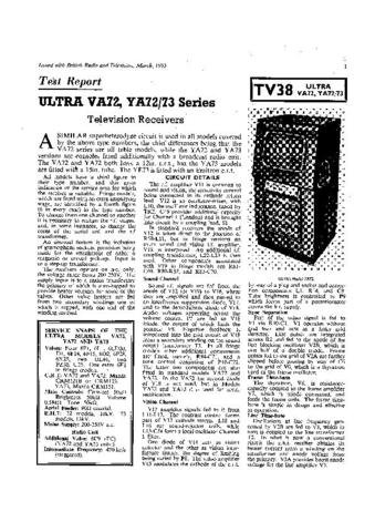 ULTRA YA72 Equipment Service Information by download #91258
