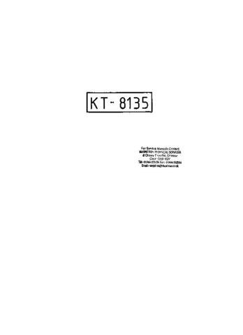 CONTEC KT8135 Colour TV Service Manual by download #91296