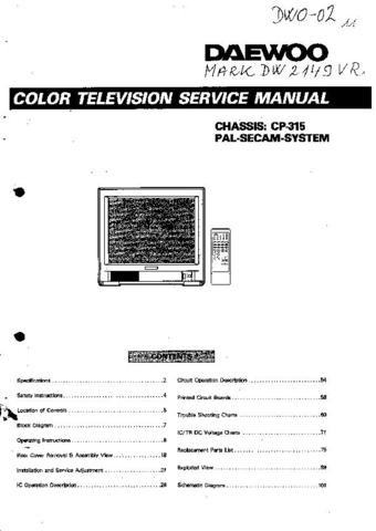 DAEWOO CP315 Service Manual  by download #91332