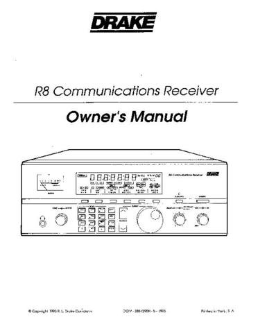 DRAKE R8 Technical Information by download #91455