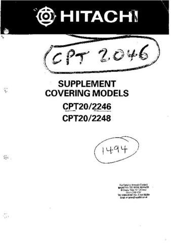 HITACHI CPT2248 Supp Service Information  by download #91702