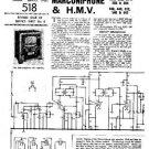 HMV 512 Vintage Service Information  by download #91766