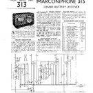 MARCONI 315 Vintage Service Information  by download #91810