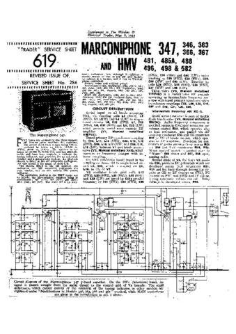 MARCONI 366 Vintage Service Information  by download #91816