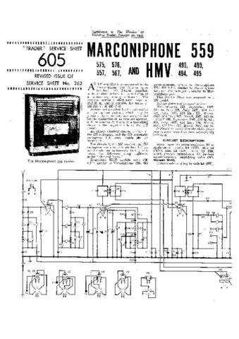 MARCONI 559 Vintage Service Information  by download #91832