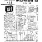 MARCONI 891 Vintage Service Information by download #91857