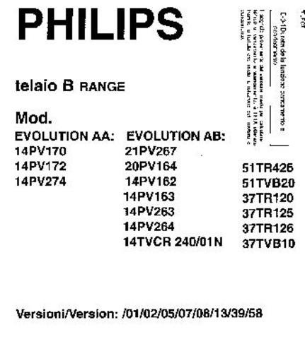 PHILIPS 14PV274 Service Manual  by download #91931