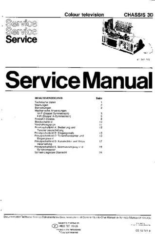 PHILIPS 3D Chassis Service Manual  by download #91948