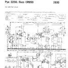 PYE 2250 Vintage Service Information  by download #92021