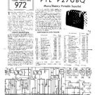 PYE P27UBQ Vintage Service Information  by download #92049