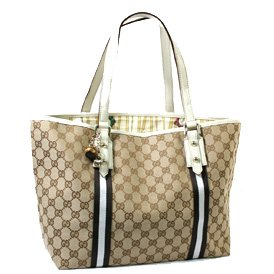 GUCCI 139260 TOTE BAG / CREAM