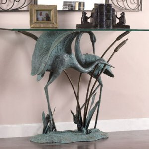 Brass Crane Table