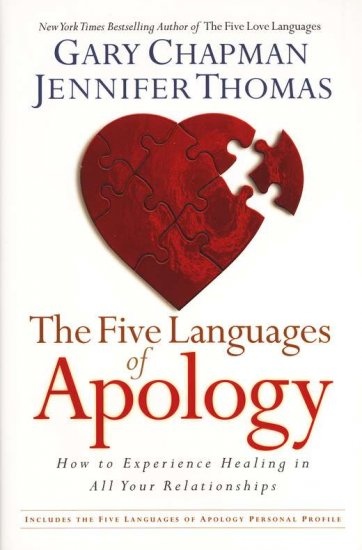 5 Languages Of Apology By: Gary Chapman