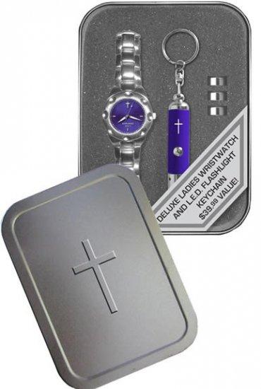 Womens Watch/flashlight Gift Set