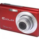 Casio Exilim EX-Z70 Red 7.2MP Digital Camera with 3x Anti Shake