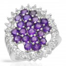 Sterling Silver Amethyst and Topaz Cocktail Ring
