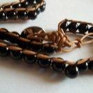Black Agate Friendship Bead Bracelet