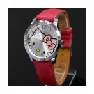 Big dial  HelloKitty watch with red wristband