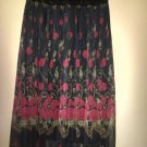 Ladie's Floral Print Maxi Skirt