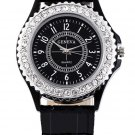 Geneva watch with crystal dial