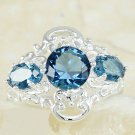 Blue Topaz Ring Set in Sterling Silver