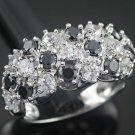 Black Onyx & White Zircon Dome-Shaped Fashion Ring