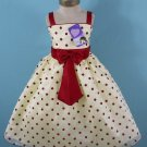 Polka Dot Pageant dress Girl's size 5-6