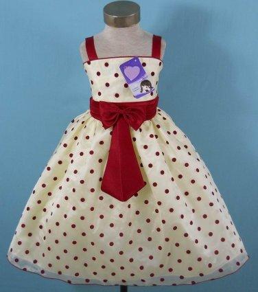 Polka Dot Pageant dress Girl's size 5-6