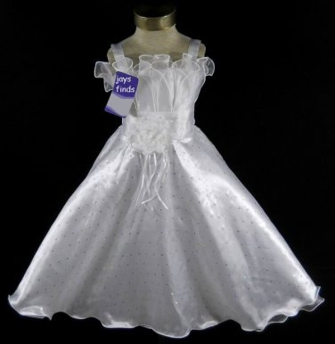 Girls Pageant  Dress Size 6-7 white