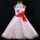 Polka Dot Pageant dress Girl's size 6-7