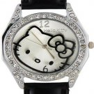 Crystal Embellished Round  Dial Hello Kitty Watch
