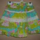 Lilly Pulitzer Tropical Print Exc Lined Girls Size 5 Skirt