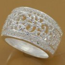 Filigree Ring Crafted in Silver Size 9