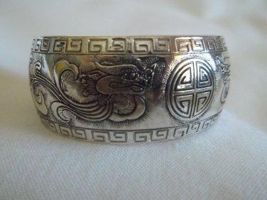 Dragon - Silver Bracelet Cuff