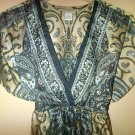 Paisley V-neck Empire Waist Tunic - Dress