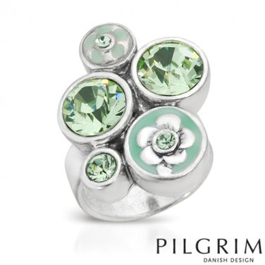 Genuine Crystal Pilgrim Skanderborg, Denmark Ring Size 6.5