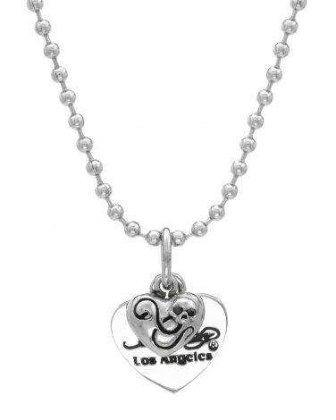 Ed Hardy Genuine Onyxes Heart Pendant and Chain