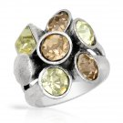 From Pilgrim Skanderborg, Denmark a Genuine Crystal Ring in Silver