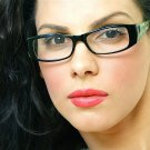 Rectangular Shape Black & Green Eyeglass Frames