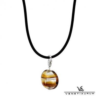24K  Murano Glass Pendant & neckalce