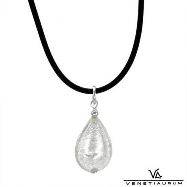 Murano glass pendant necklace crafted in sterling silver