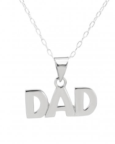 #1 Dad Pendant & Chain in Sterling Silver Made by: Chateau D'Argent