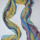 Multi Colored Crinkle Scarf