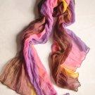 Ladies' Multi Colored Crinkle Scarf