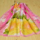 Ladies Pink & Yellow Floral Print Scarf