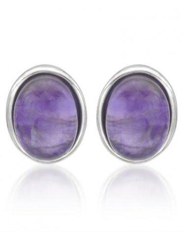 Genuine Amethyst Earrings in Sterling Silver